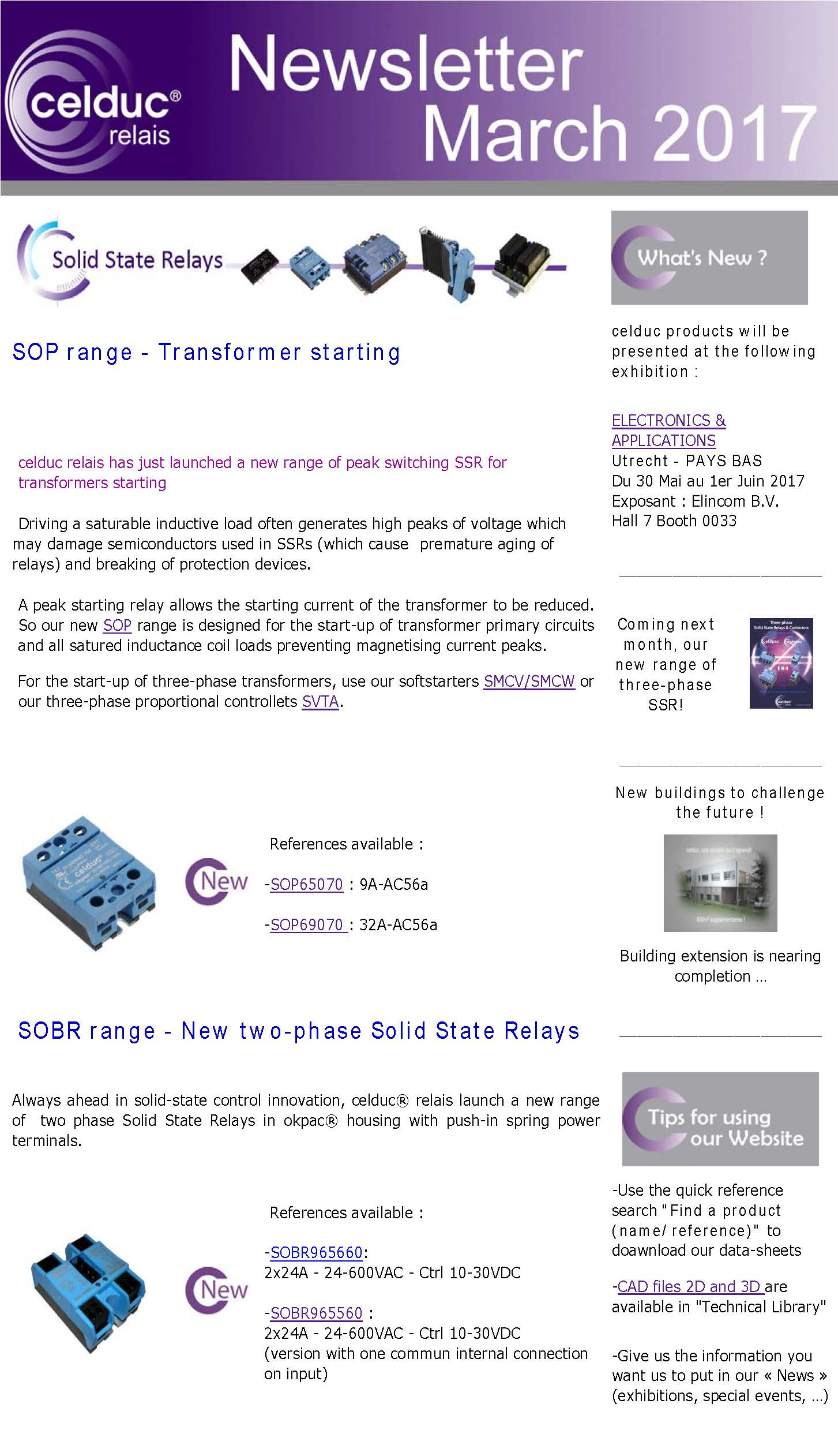 Icone2017 03 En Celduc Relais Solid State Relay Vs Coil Newsletter